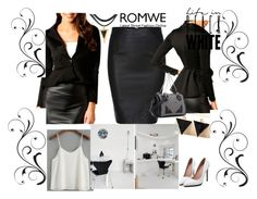 """""""black/ white"""" by fatimka-becirovic ❤ liked on Polyvore"""