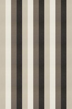 Lawn Stripe Charcoal (F0484/02) - Clarke & Clarke Fabrics - A broad stripe (11.5cm 4.5 inches) design in stone, taupe, grey and charcoal black, with a strong herringbone weave. Please request a sample for true colour and texture. Free pattern match.