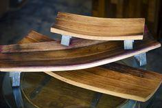 Set of 3 Upcycled Oak Barrel Stave Serving Boards by BottlesNWood