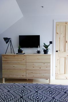 Ikea Tarva Chest of Drawers The perfect linen storage in our minimal, Scandi inspired loft bedroom. Interior Design by Making Spaces