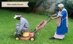 No ESKOM grass cutting - credit not known