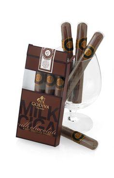 Godiva Milk Chocolate Cigars, Pack of 4
