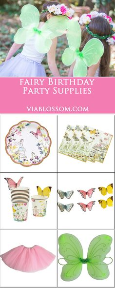 Must have Fairy Party Supplies for a magical party! The collection includes fairy plates, fairy napkins, fairy cups, butterfly garland and more! Fairy Birthday Party, Girl Birthday, Birthday Ideas, Princess Birthday, Diy Party Decorations, Fairy Decorations, Flowers Decoration, Diy Decoration, Fairytale Party