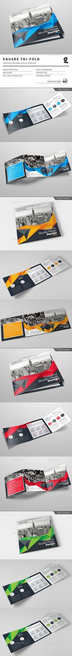 Square Tri-Fold Brochure Template PSD. Download here: http://graphicriver.net/item/square-trifold-brochure/15527434?ref=ksioks