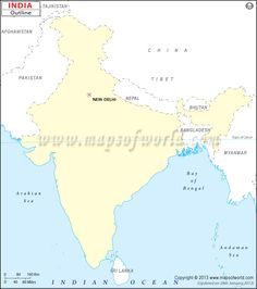The himalayas are a mountain range that separates india from the india outline map gumiabroncs Choice Image