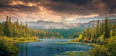 Landscape, Mountains, Hills, Forest, Canada, Tranquil
