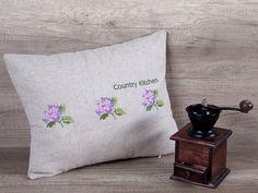 Ortensie fiore ricamo decorativo cuscino di AdorningPillows