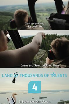 Agency: 358 Helsinki. Creatives: Ale Lauraéus, Taro Korhonen. Director: Pete Veijalainen Finland is known as the land of thousands of lakes. Talent is an international reality TV show format, which searches for all kinds of new talent. The melody is a traditional folk song familiar to all Finns. The lyrics (to the cliff, to the hill) will start playing in their heads as soon as the melody starts. The TV show will prove Finland truly is the land of thousands of talents. Traditional Folk Songs, Creative Portfolio, Reality Tv Shows, Helsinki, Cliff, Lakes, Finland, Lyrics, Music Lyrics