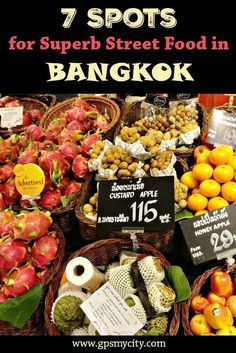 Are you traveling to Bangkok? Then eating should be on the top of your to-do list! Bangkok is famous for its great street food. Check out this insider's guide to discover 7 spots where street food is at its highest!