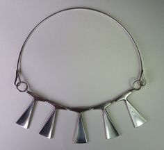 Exceptional Vintage Modernist Sculptural Sterling Necklace, Ulf Sandberg Sweden