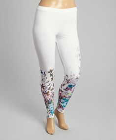 81983335c33c7 Citi Life White Floral Leggings - Plus