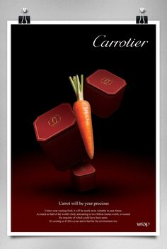 Food Waste Campaign; Parody of Luxury Brands on Behance