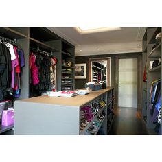 Closet Island - Contemporary - closet - Carden Cunietti featuring polyvore, house, rooms, closet, home and backgrounds