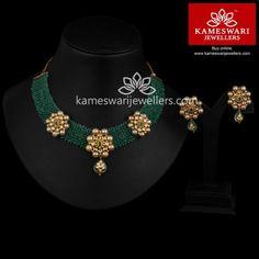 Buy Necklaces Online | Emerald Elite Set from Kameswari Jewellers