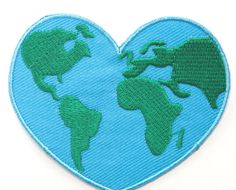Love Earth Patch Embroidered Iron on Badge Costume Applique Motif Bag Hat T- Shirt Greenpeace Green Peace 5d277ecdb2a6