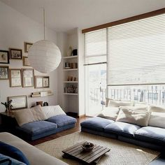 Blue, cosy, living room