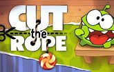"""Cut The Rope to collect stars and drop candy into the mouth of """"Om Nom"""". This hugely popular physics game developed by Zeptolab will keep you busy for hours figuring out which ropes to cut and in what order to drop all the candy into Om Nom's mouth while collecting all the stars. As you level up collecting stars and feeding Om Nom candy will become more challenging with new hazards and objects being added."""