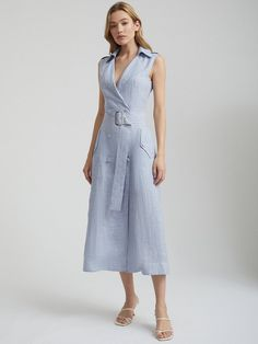Dresses For Work, Blue, Fashion, Moda, Fashion Styles, Fashion Illustrations