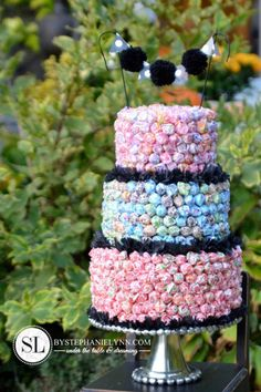 Beautiful Dum Dum Lollipop Cake by Stephanie Lynn - Under the Table and Dreaming.