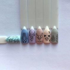 You don't need to choose the same nail art patterns over and over again. Love Nails, Pretty Nails, Fun Nails, Nails Ideias, Animal Nail Art, Geometric Nail, Manicure E Pedicure, Gel Nail Designs, Nail Decorations