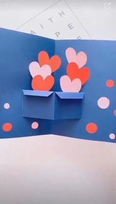Cool Paper Crafts, Paper Crafts Origami, Diy Crafts For Gifts, Fathers Day Crafts, Paper Crafting, Crafts For Kids, Diy Paper, Card Crafts, Origami Easy