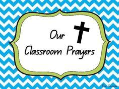 Classroom Prayers - Morning, Lunch and Afternoon Lunch Prayer, Classroom Prayer, Afternoon Prayer, 6 Class, Prayers For Children, Religious Studies, Catholic Prayers, Phonics, Teacher Pay Teachers
