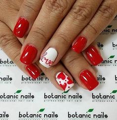 nails.quenalbertini: Valentine Nail Art by botanic nails
