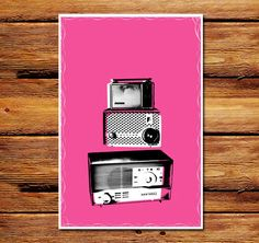 Pink Radios Poster