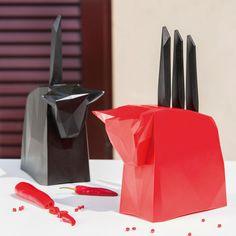 Koziol Pablo Knife Block - Red