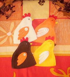 Handmade Felt Egg Cosies by Fir Cone Country Crafts