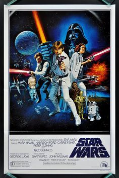 Vintage Star Wars Movie Poster Digital Art Print
