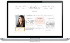 A Modern Beauty Website Design :: Va Va Voom Boudoir - Saffron Avenue