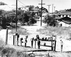 LOS ANGELES / ELYSIAN PARK: Chavez Ravine in Elysian Park, before Dodger Stadium was built.