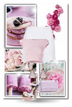 """""""Pink Set"""" by zoe-keredy ❤ liked on Polyvore featuring Topshop, Alexander McQueen, Irene Neuwirth, Chanel and Sophia Webster"""