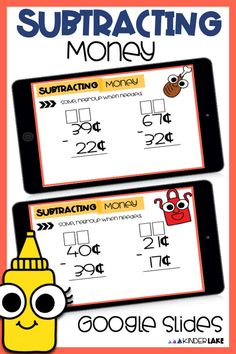 Looking to practice subtracting money during distance learning or math centers? Grab this subtracting money Google Slide activity. It's no-prep and paperless for an easy way to practice, review, or introduce subtracting money. #distancelearning #secondgrade #subtractingmoney 2nd Grade Centers, Second Grade Math, Math Centers, Fourth Grade, Third Grade, Early Elementary Resources, Elementary Math, Hands On Activities, Math Activities