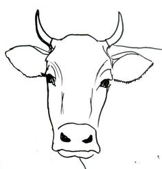 cow draw drawing bull face easy simple drawings head step painting cows sketch animal cartoon drawingandcrafts outline faces animals printable