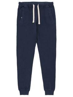 Dark blue long cotton sport pant #SUN68 #SS16 #woman #pant #sport
