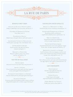 Blue French Menu template #diy