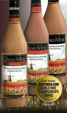 Chocovine (Chocolate Wine)  Mix it with some Chocolate Whipped Vodka, tad bit of ice and...mmmmm.