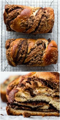 Deliciously sweet and irresistible brioche dough swirled with chocolate and topped with buttery cinnamon crumbles. This Nutella babka is downright addicting! Best Dessert Recipes, Brunch Recipes, Gourmet Recipes, Baking Recipes, Sweet Recipes, Desserts, Cinnamon Babka, Cinnamon Crumble, Nutella Cupcakes