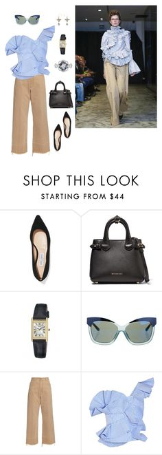 """Sans titre #399"" by matriochk ❤ liked on Polyvore featuring Jimmy Choo, Burberry, Seiko, Linda Farrow, Chanel, Anne Sofie Madsen, Rachel Comey, Johanna Ortiz and Mathilde Danglade"