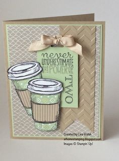 Fab Friday 38 - Stampin' Up! Card Making Inspiration, Making Ideas, Color Inspiration, Coffee Theme, Coffee Cards, Marianne Design, Creative Cards, Anniversary Cards, Greeting Cards Handmade