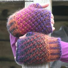Pattern Knitting Fingerless Gloves Mitts 3 Styles YARN Magic Mitts PDF Unisex Worsted Intermediate Size Small through Xlarge Fingerless Gloves Knitted, Knit Mittens, Knitted Hats, Stitch Patterns, Knitting Patterns, Roving Yarn, Slip Stitch, Arm Warmers, Knit Crochet