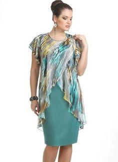 db12d905170 Plus Size Color Block Short Sleeve Knee-Length X-line Dress (1955378435)