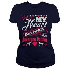 My Heart belongs to Auvergne Pointer t-shirts #Pointer