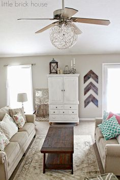 Little Brick House: Ceiling Fan Makeover