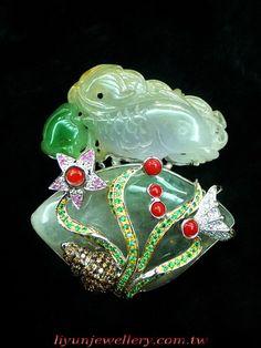 李雲風情坊-老銀鎏金、景泰藍、白玉、翡翠、珊瑚、蜜蠟、碧璽、貔貅、半寶石設計的復古珠寶、耳環,古典時尚::李雲最新作品