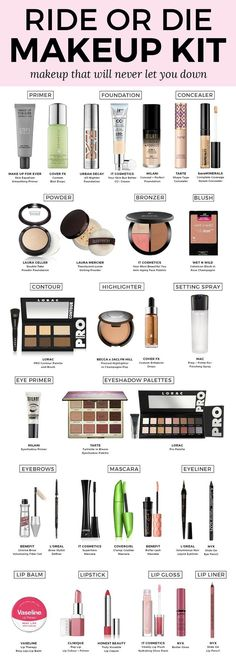 My Ride or Die Makeup Kit: Makeup That Will Never Let You Down | A comprehensive list of the best makeup on the market by beauty blogger Ashley Brooke Nicholas