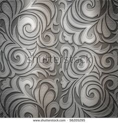 Silver metal plate with classic ornament (big collection) by caesart, via ShutterStock