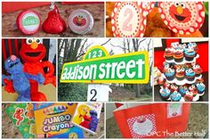 Sesame Street Birthday Party! Lots of great ideas for decorations and games.